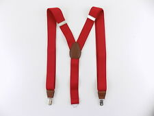 Club Room $65 MEN Red Suspenders One Size WIDTH 32mm ADJUSTABLE CASUAL SALE O11