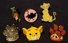 Lion King Disney pins: 6 different ones, Hidden Mickey, Pumbaa Chaser, Simba