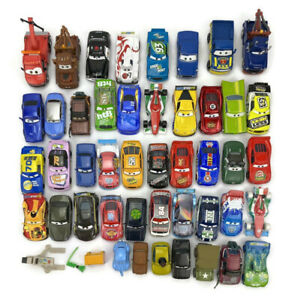 Disney Pixar Mattel Cars Movie Race Racer Diecast Vehicles 1:55 Scale Lot of 45