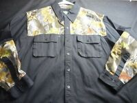Master Sportsman Cotton Vented Black Camouflage Xl Men's Shirt