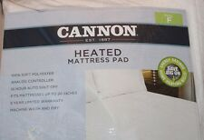 Cannon Full Heated Mattress Pad  - White