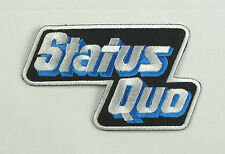 STATUS QUO Blue & Silver Iron On Sew On Patch Music