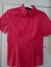 "Springtime Hot Pink S.S.Medium Blouse 36""Bust Cotton/Spandex Fitted Blouse- New!"