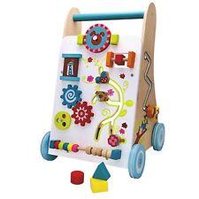 Lauflernwagen aus Holz Baby Walker Gehfrei Lauflernhilfe Steckspiel Zubehör