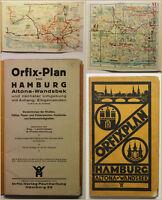 Orig Prospekt Orfix-Plan von Hamburg Altona-Wandsbek 1900 Ortskunde Geografie sf