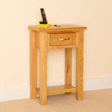 Newlyn - Oak Telephone Table / Light Oak Hall Table / Modern Oak Side Table
