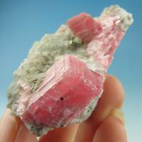 Gem Pink Rhodochrosite Crystal Specimen-rh0796