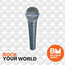 Shure BETA 58A Microphone Dynamic Lo Z Vocal HandHeld Supercardioid Mic BETA58A