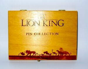 Disney's The Lion King Wooden Boxed Pin Collection Very Rare Collectable Simba