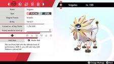 Pokemon Home Sword/Shield New Solgaleo Max IVSEVS + Master Ball