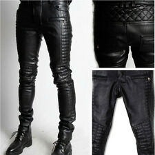 100% New Genuine Sheep Napa Leather Men's Designer Biker Pant GDL-39