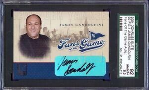 2004 Donruss Elite Fans Of The Game James Gandolfini Autograph card  SGC 8.5