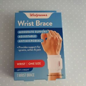 Wrist brace left right one size new box adjustable moderate support antimicrobia