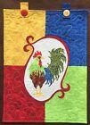 Chicken Rooster quilt block top wall hanging applique