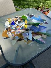 Mixed Lot Of Stained Glass Scraps 15lbs. Starting Bid $1.00 No.1