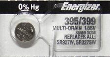1 Pc Energizer 395 399 SR927SW AG7 LR927 Silver Oxide Battery