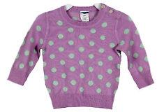 J Crew Crewcuts Baby Cashmere Sweater in Polka Dot 9-12 M 37731 Purple $145
