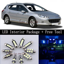 Error Free Blue Light Interior LED Package 7x for Peugeot 407 SW 04-10 +TOOL Y2