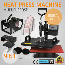 9 In 1 Digital Heat Press Machine Sublimation For T-Shirt/Mug/Plate Hat Printer