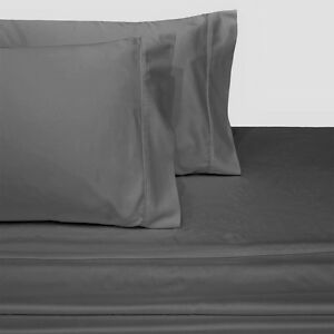 Solid Attached Waterbed Sheet Set 600 TC 100% Cotton With POLE Attachment