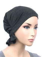Abbey Cap ® Chemo Hat Cancer Beanie Scarf Cotton Gray