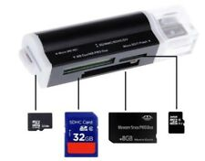 M2 Kartenleser Karten Leser Cardreader Micro SD Card Reader USB schwarz SDXC
