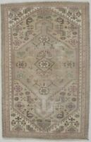 Boho Style Antique Muted Distressed 3X4'5 Hand-Knotted Oriental Area Rug Carpet