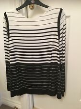 PER UNA LADIES STRIPED TOP. SIZE 14