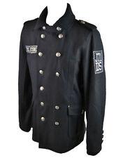 Cappotti e giacche da uomo nere in lana con colletto