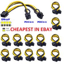 ☑️PCI-E 8-pin to 2x 6+2-pin (6Pin/8Pin) Power Splitter Cable PCI PCIE Express US