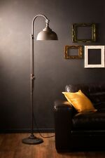 Industrial Floor Lamp Retro Vintage Style Iron Black Metal Tall Pipe Tap Black