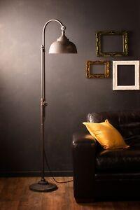 Industrial Floor Lamp Retro Vintage Style Iron Black Metal Tall Pipe Tap Black