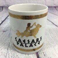 Caesars Palace Casino Coffee Cup Mug with Gold Accents / Las Vegas Souvenir
