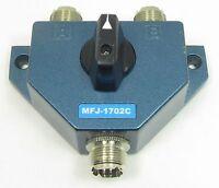 MFJ-1702C 2-Position HF/VHF/UHF Antenna Switch with Lightning Protection