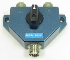 MFJ-1702C 2-Position HF/VHF/UHF Antenna Switch with Lightning Protection