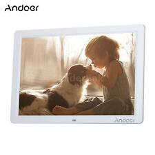 "Andoer 15"" HD LED Digital Photo Frame Album Electronic Picture Frame Clock V8U6"