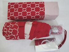 BNWT OROTON Signature SMALL Umbrella RED/MILK *NEW* RRP $75