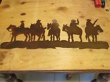 Cowboys On Horses Wall Art Western Rustic Cabin Home Decor Horse Rodeo Cowgirl