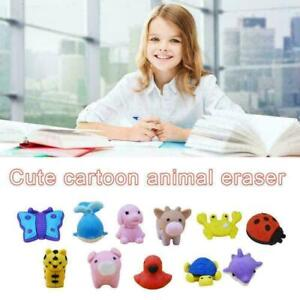 25PCS Cartoon animal mini cute eraser For kid rubber R6B1 For pe stationery E4Z4