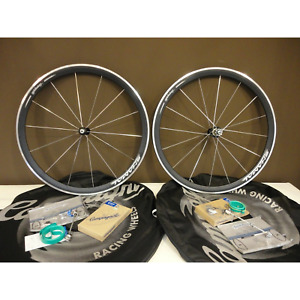 NOS CAMPAGNOLO SHAMAL BLACK Road Racing Wheels | 9/10/11 Speed | Made In Italy