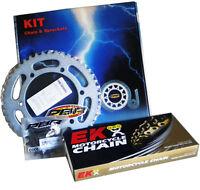 PBR / EK CHAIN & SPROCKETS KIT 525 PITCH COMPATIBLE FOR SUZUKI GSX 650 F 2008 >