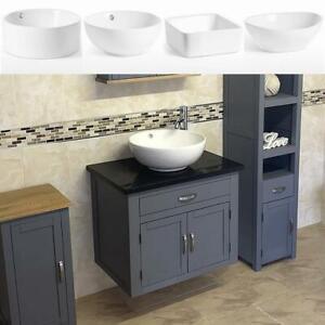 Bathroom Wall Hung Vanity Unit | Grey Painted Black Quartz Top | Ceramic Basin