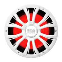 """BOSS Audio Systems MRGB10W 10"""" Marine Subwoofer 800Wts Multicolor Lighting White"""