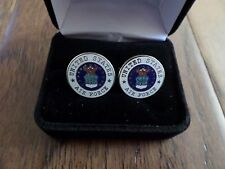 U.S Military Air Force Cufflinks With Jewelry Box 1 Set Cuff Links Boxed