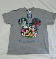 New listing Tee Shirt Disney Dreams Florida Unisex Xlarge Fireworks American Flag Gray
