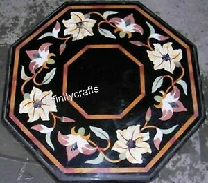 24 Inch Marble Coffee Table Top Peitra Dura Art Sofa Table for Living Room Decor