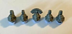 5 x PRIMARIS Space Marine 'Spartan' Helmets Heads Warhammer 40k (Customise Army)