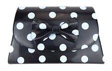 Tasche schwarz weiß Punkte Ella Jonte kleine Handtasche Clutch Retro gepunktet