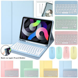 Bluetooth Keyboard Mouse With Flip Case Cover For iPad 5/6th 7th 8th Gen Air Pro