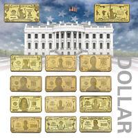 WR 14pcs US Banknote Gold Bar $1-$1 Billion Dollar Paper Money Collection Set